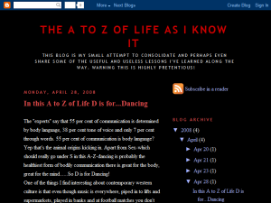The A to Z of Life as I know It Web Domain Authority Directory