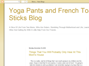 Yoga Pants and French Toast Sticks Web Domain Authority Directory
