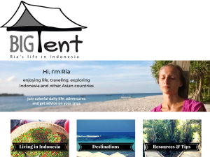 Travel blogger, expat in Indonesia - lifeinbigtent Web Domain Authority Directory