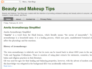 Beauty and Makeup Tips Web Domain Authority Directory