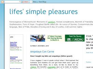 life's simple pleasures Web Domain Authority Directory