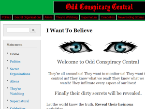 Odd Conspiracy Central Web Domain Authority Directory