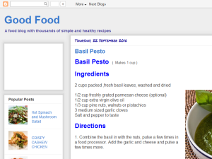 Good Food Web Domain Authority Directory