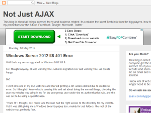 Not Just AJAX Web Domain Authority Directory