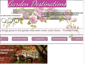 Garden Destinations Web Domain Authority Directory