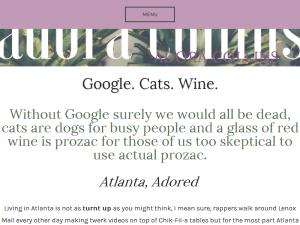 Google. Cats. Wine. This is Life in Your 20's Web Domain Authority Directory