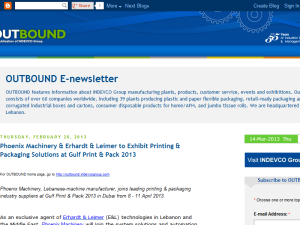 INDEVCO Group OUTBOUND E-newsletter Web Domain Authority Directory