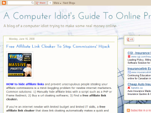 A Computer Idiot's Guide to Online Profits Web Domain Authority Directory