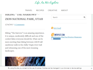 Life As We Explore - Travel Web Domain Authority Directory