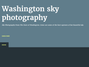 Washington sky photography