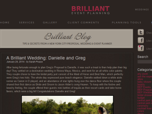 Brilliant Event Planning Blog Web Domain Authority Directory