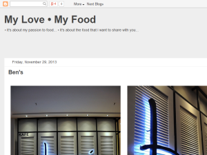 My Love My Food Web Domain Authority Directory