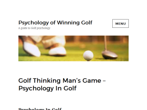 Psychology of Winning Golf Web Domain Authority Directory