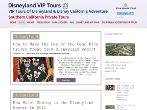 Disneyland VIP Tours | Southern California Private Tours Web Domain Authority Directory