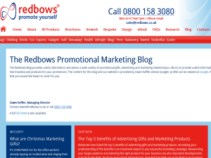 Redbows Promotional Marketing Blog Web Domain Authority Directory