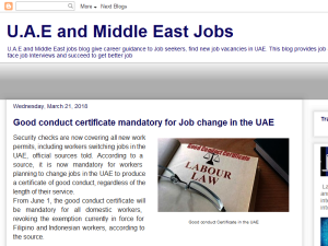 U.A.E and Middle East Jobs Web Domain Authority Directory