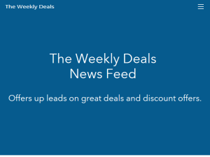 The Weekly Deals News Feed Web Domain Authority Directory