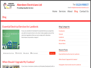 Aberdeen Electricians Blog Web Domain Authority Directory