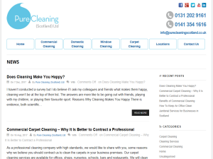 Pure Cleaning Scotland - Cleaning Blog Web Domain Authority Directory