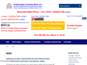 portable oxygen concentrator miami Web Domain Authority Directory