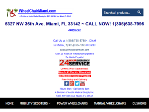 Wheelchair Miami Web Domain Authority Directory