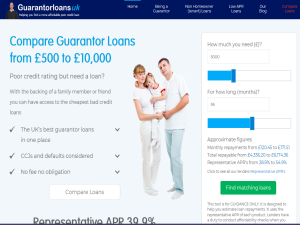 Guarantor Loans UK Web Domain Authority Directory