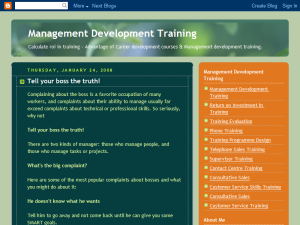 Management Development Training Web Domain Authority Directory
