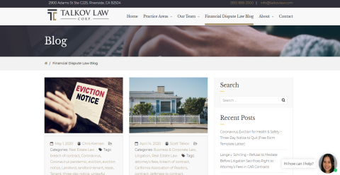 Talkov Law Real Estate & Bankruptcy Web Domain Authority Directory