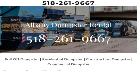 Albany NY Dumpster Rental Web Domain Authority Directory