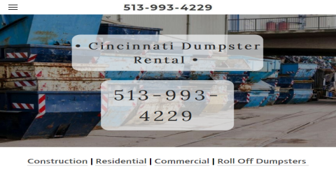 Cincinnati OH Dumpster Rental Web Domain Authority Directory