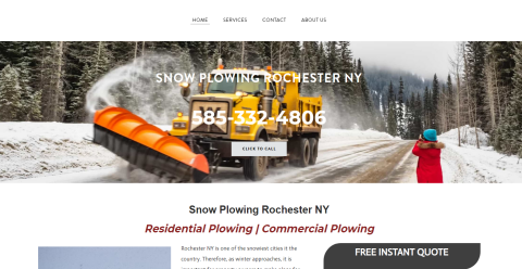 Snow Plowing Rochester