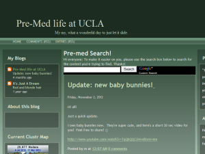 Pre-Med life at UCLA Web Domain Authority Directory