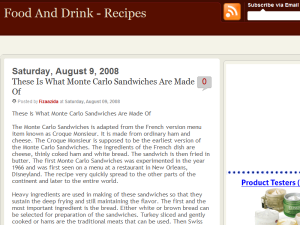 Food n Drink - Recipes Web Domain Authority Directory