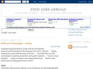 Jobs Abroad Web Domain Authority Directory