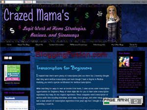 Crazed Mama's Work At Home Strategies Web Domain Authority Directory