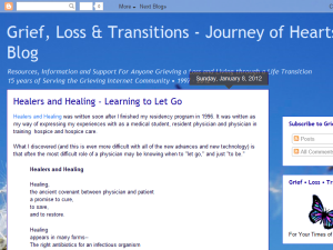Grief, Loss & Transitions - Journey of Hearts Blog Web Domain Authority Directory