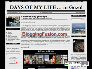 Days of my life in Gozo Web Domain Authority Directory