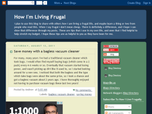 How I'm Living Frugal