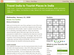 Travel India to Tourist Places in India Web Domain Authority Directory