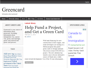 The Greencard Web Domain Authority Directory