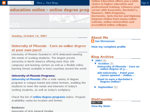 Education Online - Online Degree Programs Web Domain Authority Directory