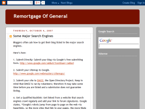 Remortgage of General Web Domain Authority Directory