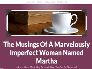 The Musings Of Marvelous Martha Web Domain Authority Directory
