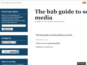 The b2b guide to social media Web Domain Authority Directory