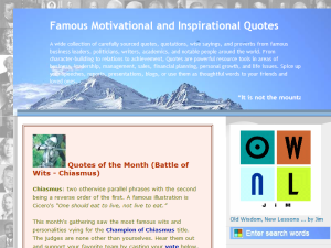 Famous Motivational and Inspirational Quotes Web Domain Authority Directory