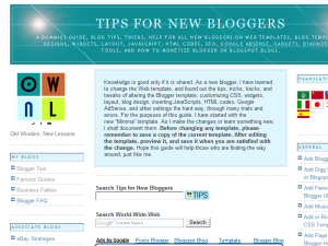 Blogger Tips and Tricks Web Domain Authority Directory