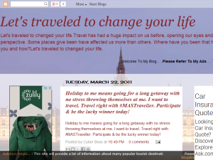 Let's traveled to changed your life Web Domain Authority Directory