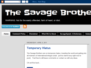 The Savage Brothers Web Domain Authority Directory
