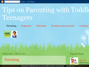 Parenting with Toddlers to Teenagers Web Domain Authority Directory