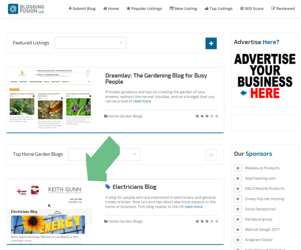 Web Domain Authority : Featured Listing
